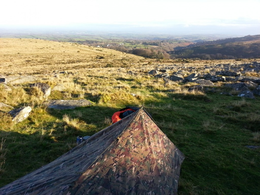 Late Autumn bivying on Dartmoor with a basha tarp
