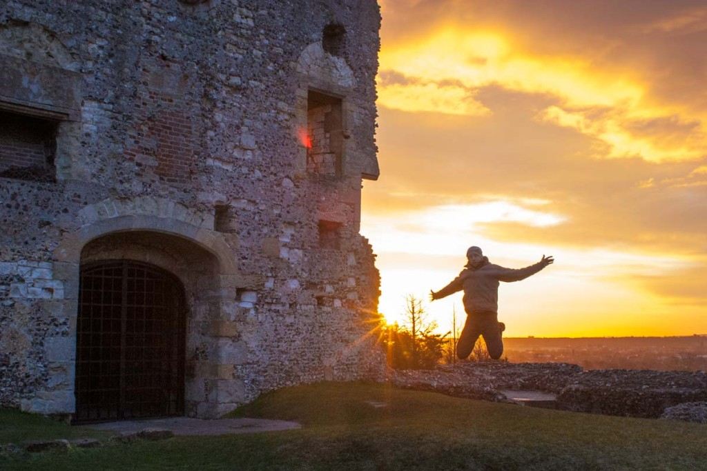 Flying high at Donnington Castle