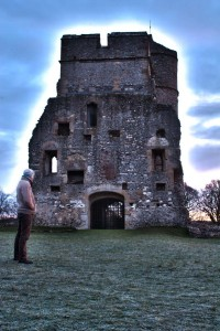 A portrait of Matt at Donnington Castle on a wintery morning