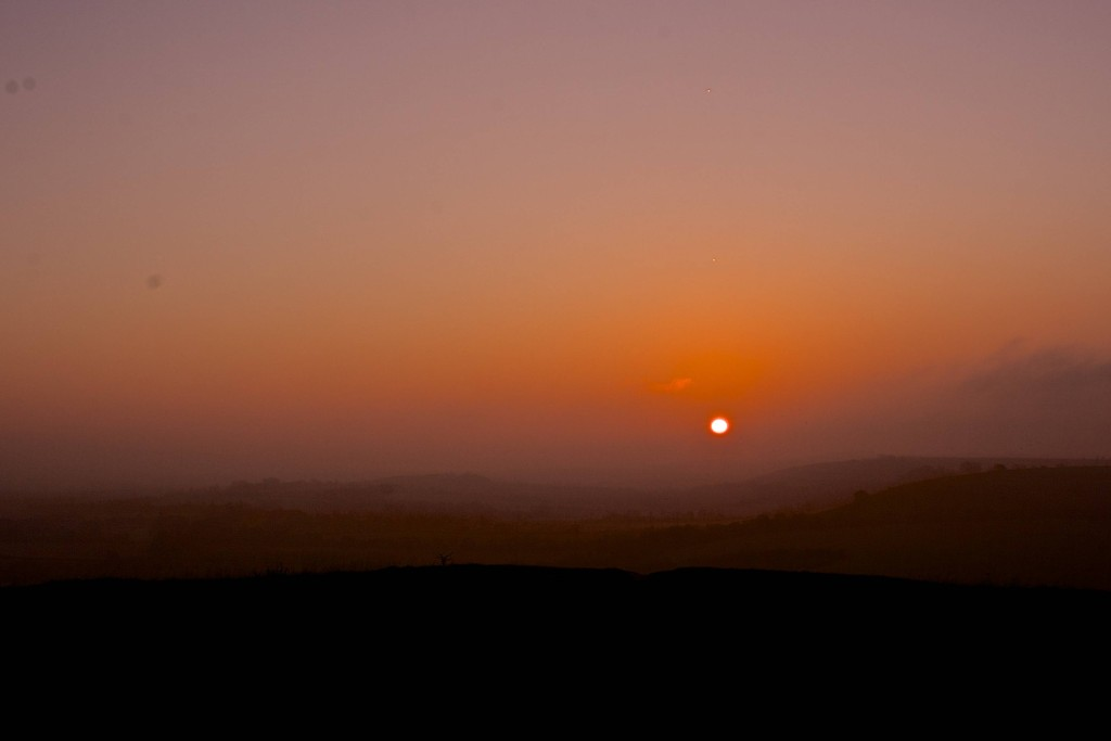 Sunrise over Beacon Hill, Hampshire