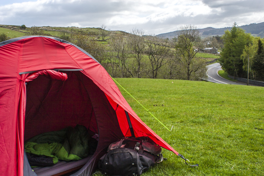 Camping in the grounds of Dolwyddelan Castle