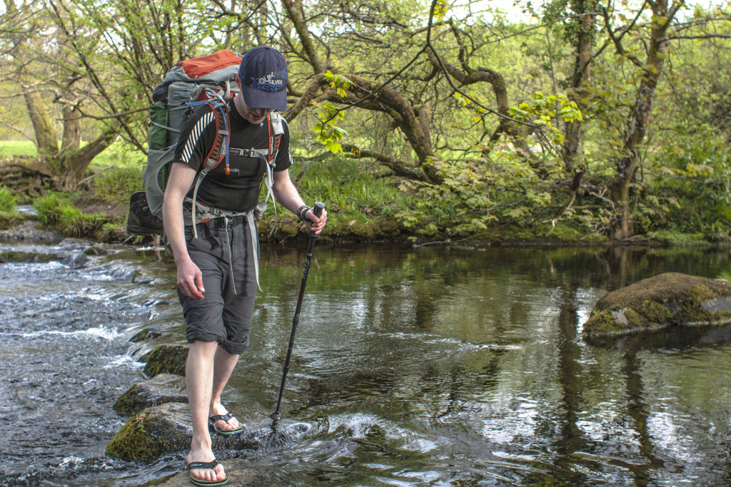 The Other Matt treads carefully on Capel Curig's precarious stepping stones
